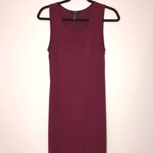 Forever 21 Maroon and Striped Bodycon Maxi Dresses